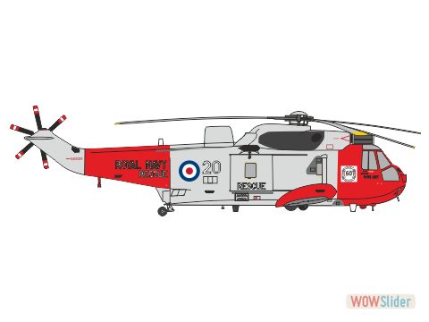 WBA72157 - Royal Navy Sea King HU.5 - 771 Sqn. - 60 Years of RN SAR (Airfix Sea King)